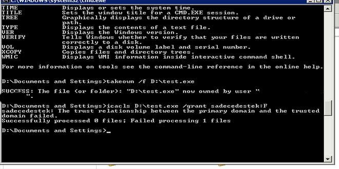 Windows 7 dosya yetkilerini düzenleme