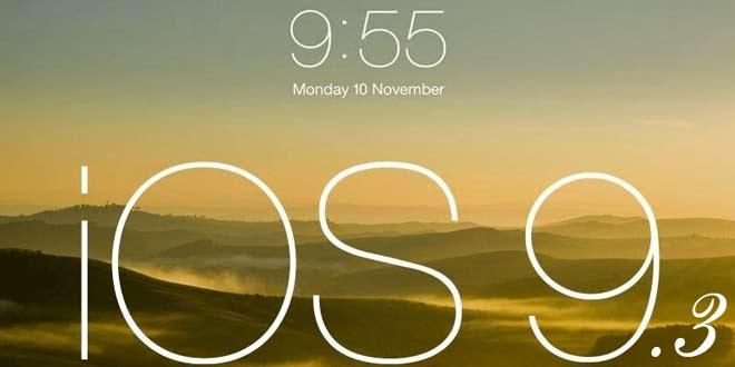 iOS 9.3 beta 1 güncellemesi yayınlandı