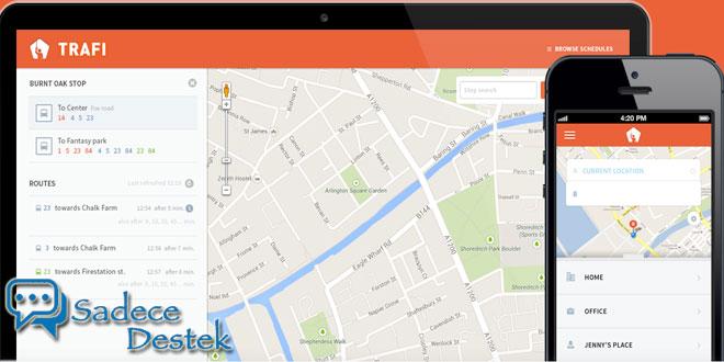 sadecedestek Toplu taşıma uygulaması TRAFI'ye çevrimdışı desteği