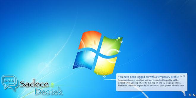 Microsoft, Windows 7 geçici profil sorunu