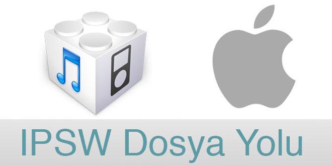 iPhone IPSW Dosya yolu